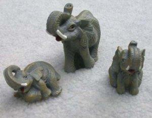 Elephant Family Set of 3