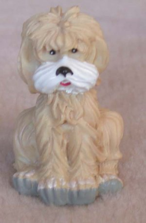 "Poodle Mini Light Brown 1 3/4"" High"