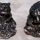 Bookends Bears Fishing Bronze- Finish Bookends