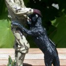 Hunter with Black Labrador Retriever Figurine