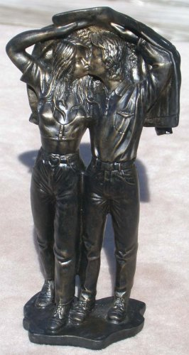 Boy and Girl  Couple Figurine Bronze-Look Finish