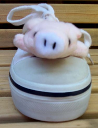 "Shoe Buddy Pink Pig Attach to Shoe 4"" Long"
