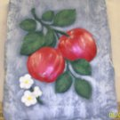 Apple Plaque Painted Ceramic