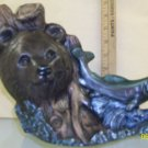 Bear and fish Painted Ceramic