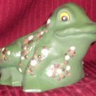 Painted Ceramic Frog Planter