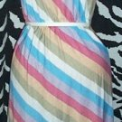 Rainbow Striped Disco Dress