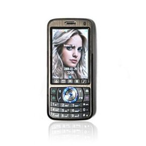 Unlocked A008 Quad Band Dual Sim Cell Phone in Black