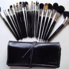 23 Piece Make Up Brush Set in foldable Leather Case