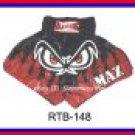 RAJA Muaythai boxing shorts RTB-148 Black/Red