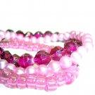 Set of 3 Pink Bracelets