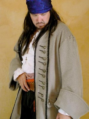 Pirate Coat Colonial Style with Front Placket LARP