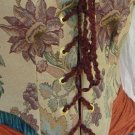 Renaissance Tapestry Wench Bodice LARP Pirate Corset Style