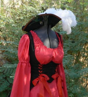 Sexy Pirate Dress Wench Outfit Renaissance Costume Underbust Bodice