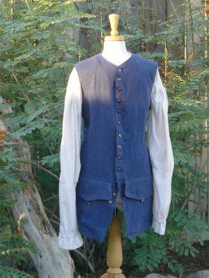 Pirate Vest Linen Jack Sparrow Waistcoat Colonial POTC LARP