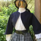 Zouave Jacket Civil War Bolero Style Cropped Jacket Cotton Canvas