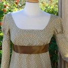 Regency Era Jane Austen Dress Cotton Floral Empire Waist