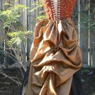 Victorian Steampunk Fashion Taffeta Bustle Skirt Adjustable Drawstring
