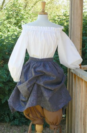 Renaissance Chemise Peasant Blouse Long Sleeve Cotton LARP Shirt
