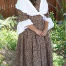 Colonial 18th Century Day Dress in Cotton Calico Historical Design