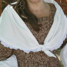 Fichu Colonial Shawl Scarf in Cotton Shoulder Wrap