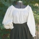 Plus Size Peasant Blouse Chemise in Cotton Renaissance Pirate Wench
