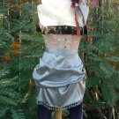 Bustle Overskirt Beaded Fringe Steampunk Victorian Skirt Satin Wedding
