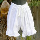 Bloomers Cotton Knickers Cosplay Shorts LARP Victorian Drawstring Waist