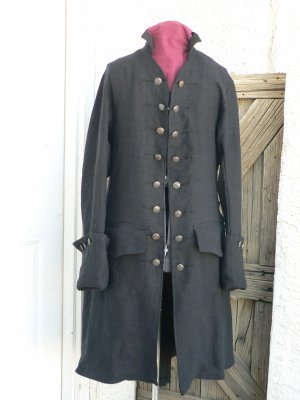 Pirates of the Caribbean Pirate Coat Colonial Frock Movie Reproduction