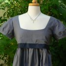 Regency Dress Jane Austen  Mini Cotton Empire Waist