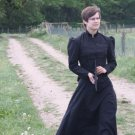 Victorian Bustle Dress Mourning Gown Gothic Style Steampunk Skirt
