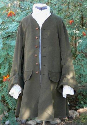 Pirate Coat Suede Cloth Renaissance LARP Colonial Frock