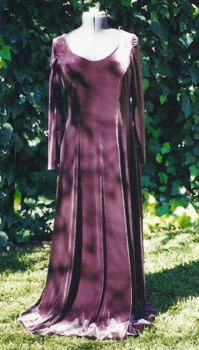 Medieval Renaissance Dress Cotehardie Gown Velvet Wedding LARP SCA