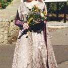 Medieval Surcoat Dress Renaissance Brocade Overdress Custom