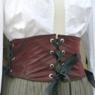 Faux Leather Waist Cincher Corselet Grommets Renaissance Pirate