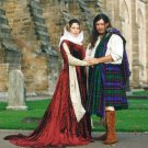 Medieval Gown Cotehardie with Train Velvet SCA LARP Wedding