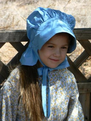 Prairie Bonnet Sun Cotton Hat Laura Ingalls