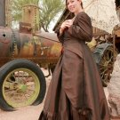 Steampunk Bustle Dress Taffeta Victorian Bustier Polonaise Jacket