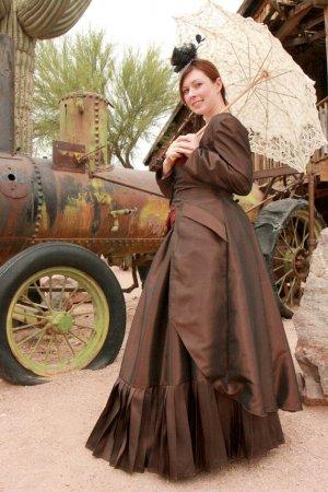 Steampunk Bustle Dress Taffeta Victorian Bustier Polonaise Jacket