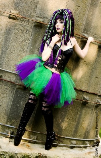 Extra Puffy Monster tutu Purple and Green Adult Medium