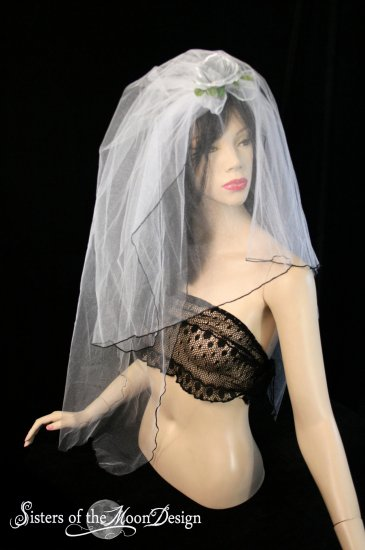 Silver Moon Wedding Veil