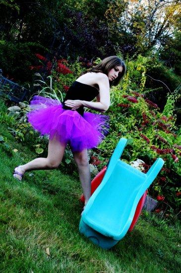 Purple adult dance tutu Medium