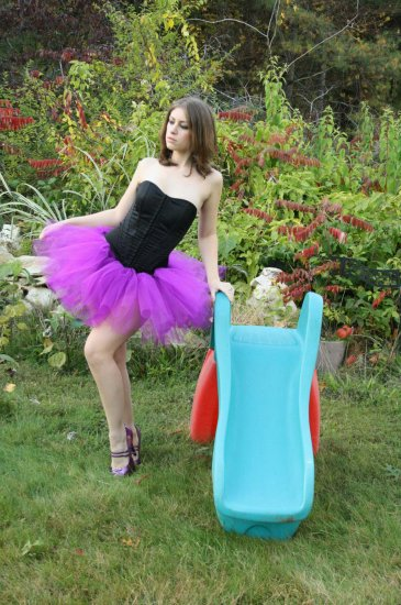 Purple adult dance tutu XLarge