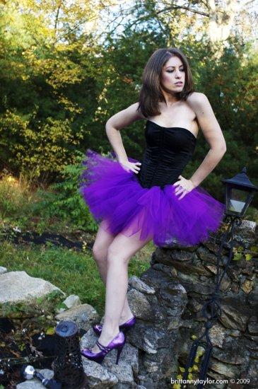 Purple adult dance tutu XXLarge