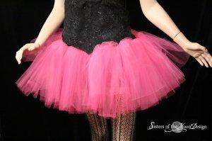 Hot pink adult dance tutu skirt petticoat XXLarge plus size