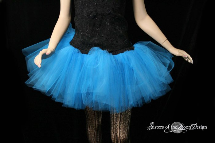 Blue adult dance tutu XLarge