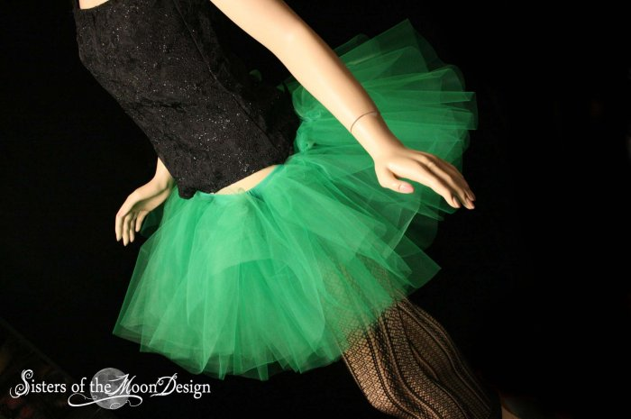 Green adult dance tutu Large