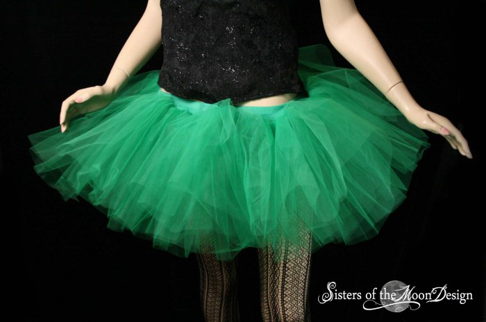 Green adult dance tutu Medium