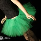 Green adult dance tutu Small