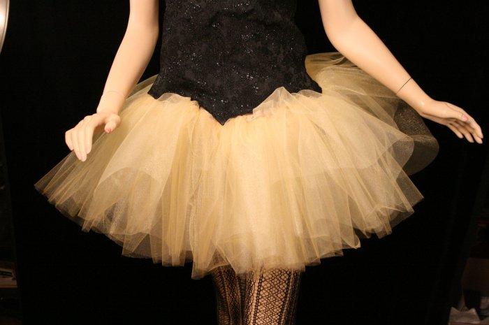 Golden gold adult dance tutu XLarge Plus