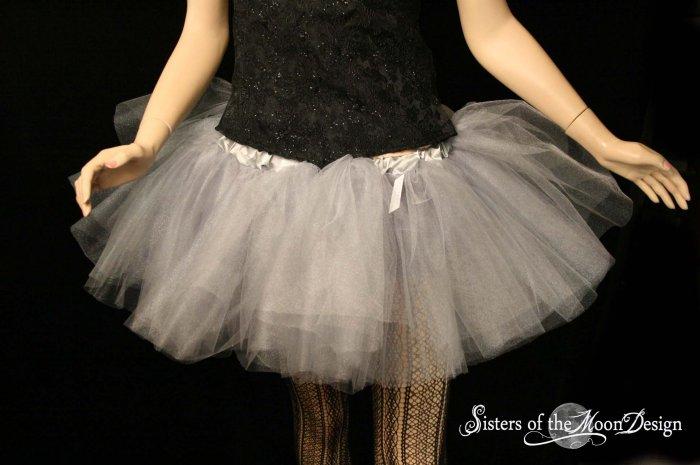 Silver iridescent adult dance tutu XLarge Plus